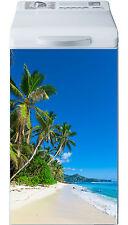 Sticker lave linge déco électroménager Les Tropiques réf 22 40x80cm