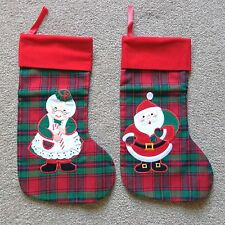 Lot of Christmas Holiday Items 2 Stockings 2 Hats 300 Ornament Hooks
