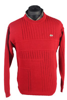 Lacoste Vintage Chimese Jumper Devanlay Causual Winter Retro UK S Red - IL1663