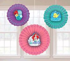 Little Mermaid ARIEL Paper Fan Hanging Decoration Birthday Party Supplies ~ 3