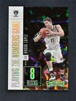 2017-18 Contenders Playing the Numbers Game Cracked Ice #13 Brook Lopez /25