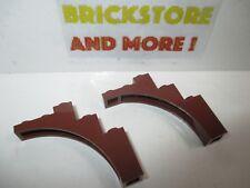 Lego - 2x Brick Arch Pont Bow 1x5x4 Mix of 2339 76768 Reddish Brown/Marron/Braun