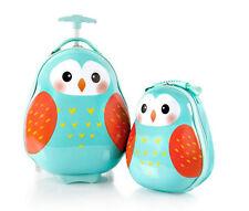 Heys America Travel Tots Kids 2 Piece Luggage & Backpack Set - Owl