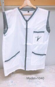 Professional Barber Vest Jacket White Color Ultra Lightweight