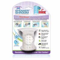 """ShowerShroom 2"""" Hair Catcher for Shower Stall Drains (White) - TubShroom Family"""