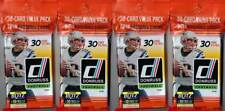 (4) 2018 Donruss Football NFL Trading Cards New 30ct. Retail FAT PACK Lot FS