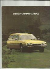 CITROEN CX  SAFARI AND FAMILIALE SALES BROCHURE  1978 1979