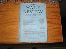1941 Yale Review Julian Huxley, Sherwood Anderson, Deutsch, WW II Reports, ETC