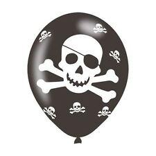 6 Pack fiesta Pirata Globo de Látex Cumpleaños Decoracion Calavera y Cruz Huesos