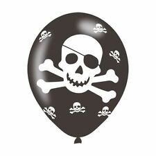 6PK Piraten Party Latex Ballon Geburtstag Dekoration Schädel und Cross Bones