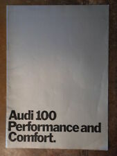 AUDI 100 & LS SALOONS orig 1971 UK Mkt Sales Brochure