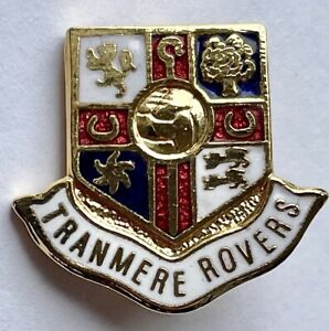 TRANMERE ROVERS FC BADGE VINTAGE GILT AND ENAMEL FOOTBALL BADGE