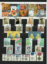 s33200 UK GREAT BRITAIN 1990 All commemoratives sets + greeting stamps