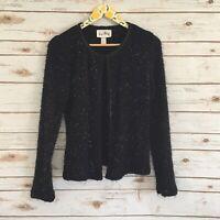 Joseph Ribkoff Women's Black Shimmery Cardigan Sweater Size 10