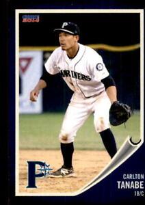 2014 Pulaski Mariners Choice #21 Carlton Tanabe Pearl City Hawaii HI Card