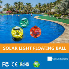 1Pcs Solar Powered Floating Pond Light Swimming Pool Color Changing Led Lamp Us