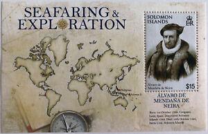2009 Solomon Islands Neira $15 Stamp Sheet | Sc #1136 Mi #BL101 | MNH OG