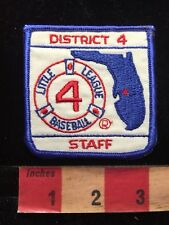 Florida DISTRICT 4 LITTLE LEAGUE BASEBALL STAFF Patch 82V8