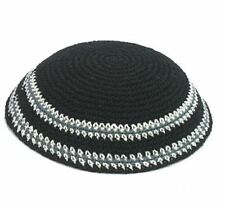 Jarmulke Israel klassische gehäkelte Kippa Kopfbedeckung jüdische Schädeldecke