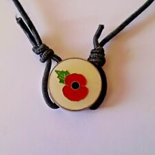 'REMEMBRANCE BRACELET'  ENAMELLED...EXPANDABLE...50% TO BRITISH RED CROSS!