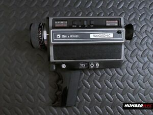 Vintage 1976 BELL & HOWELL FilmoSonic Super 8 Movie Camera Model 1223 - AS IS