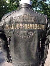 Harley Davidson Passing Link Distressed Leather Jacket Men's Medium