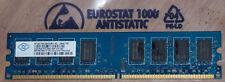 2gb ddr2 di RAM pc2-6400 800mhz cl6 6-6-6-18 Nanya nt2gt64u8hd0by-ad Memory