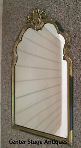 57292 TALL ANTIQUE GOLD Wood and Gesso MIRROR