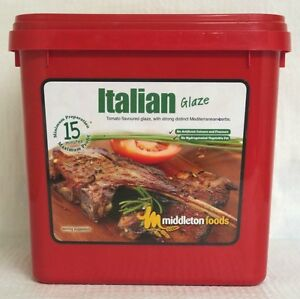 Middleton Foods 🌾 ITALIAN Meat Glaze Marinade Seasoning Mix 2.5kg Red Tub