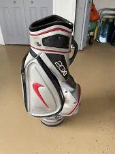 "Nike Golf 20XI Tour Staff Golf Bag 6-Way Divide Top 7 Pockets Silver Red 9"" x 8"""