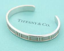 TIFFANY&Co Atlas Roman Numerals Cuff Bracelet Small size Silver 925 #1026