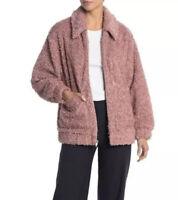 UGG Kaley Teddy Bear Pink Dawn Jacket Faux Fur 1102223 Women's Sz M MSRP $295.00