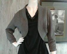 Isabella Rodriguez Women's Size Large Shrug Bolero Cardigan Style  Grey