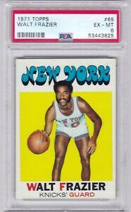 RG: 1971 Topps Basketball Card #65 Walt Frazier New York Knicks - PSA 6