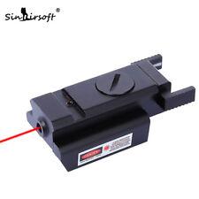 Tactical MiNi Red Dot Laser Sight Picatinny Weaver Rail For Pistol Riflescopes