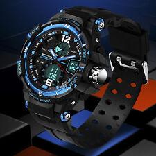 Fashion Men Digital Sports Military Date WATERPROOF Analog Quartz Wrist Watch
