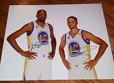 Kevin Durant Steph Curry Signed 16x20 Photo COA Will Pass PSA Stephen Warriors