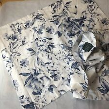 Ralph Lauren 100% Cotton 2 Pillowcases Floral Blue White Standard