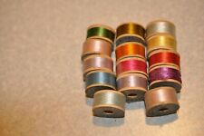 Vintage 14 new wooden spools of Belding Bros and Co embroidery silk thread