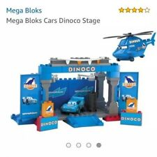 Lego Mega Bloks Dinoco Stage 7785 McQueen Helicopter Disney Pixar Cars movie Set