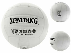 SPALDING TF3000 Indoor Full Grain White Leather Volleyball