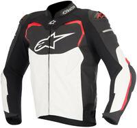 Alpinestars GP Pro Leather Sport Motorcycle/Motorbike Jacket - Black-Red-White