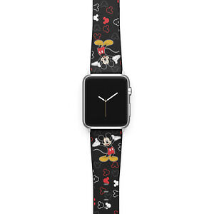 Disney Mickey Mouse Apple Watch Band SE 44 40 38 42 mm Series 6 5 3 4 2 Strap