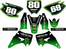 KX 125 250 2003 onwards Monster graphic/decal kit PERSONALISED FREE UK SHIPPING