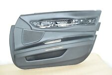 BMW F01 F02 FRONT RIGHT PASSENGER DOOR CARD TRIM COVER PANEL BLACK LEATHER! OEM