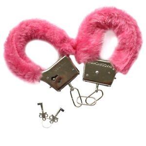 Sexy Men Women Hen Night Party Game Gift Furry Soft Metal Fuzzy Handcuffs