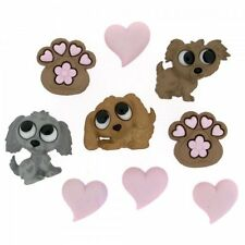 Jesse James Dress It Up Buttons Puppy Love #7823 Sewing Crafts