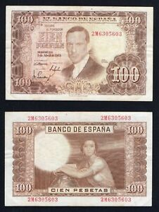 Spagna / Spain - 100 pesetas 1953 BB/VF  A-05