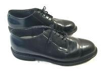 Bates Uniform Work Shoes Mens Size 10.5 E Black Leather Lace-Up Oxfords Vibram