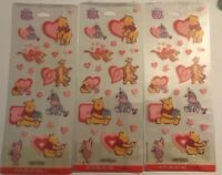 Stickeroni by Hallmark Winnie The Pooh Valentines Stickers Clear Back - 3 Packs